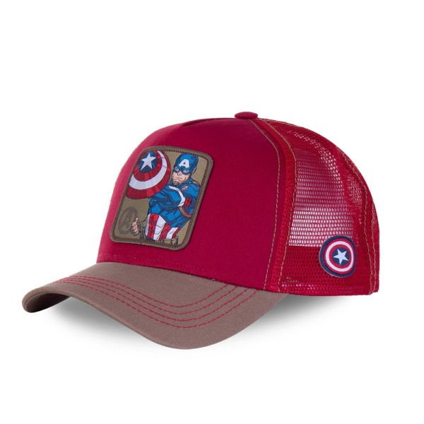 Sapka CAPSLAB Marvel Captain America red