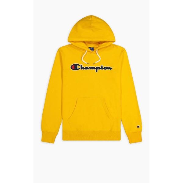 Felső CHAMPION Rochester Script Hoodie yellow