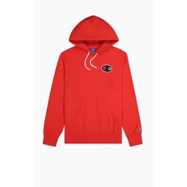 Felső CHAMPION Rochester C-Logo Hoodie red