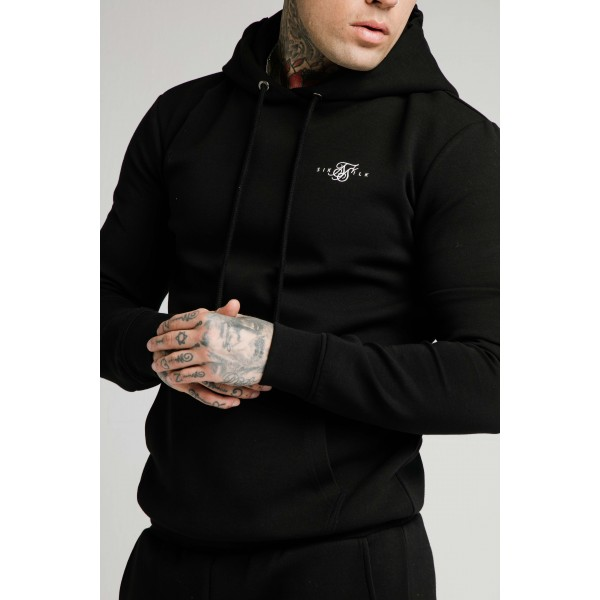 Felső SIK SILK Muscle Fit Hoodie black