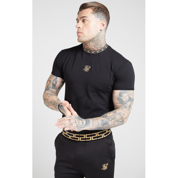 Trikó SIK SILK Collar Gym Tee black