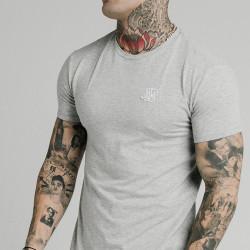Trikó SIK SILK Short Sleeve Gym Tee grey marl