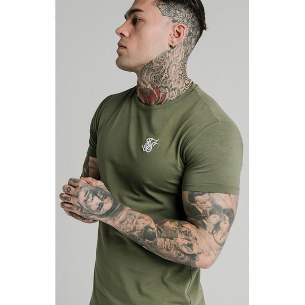 Trikó SIK SILK Short Sleeve Gym Tee khaki