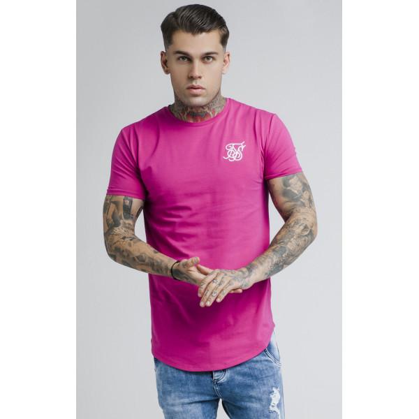 Trikó SIK SILK Short Sleeve Gym Tee sangria pink