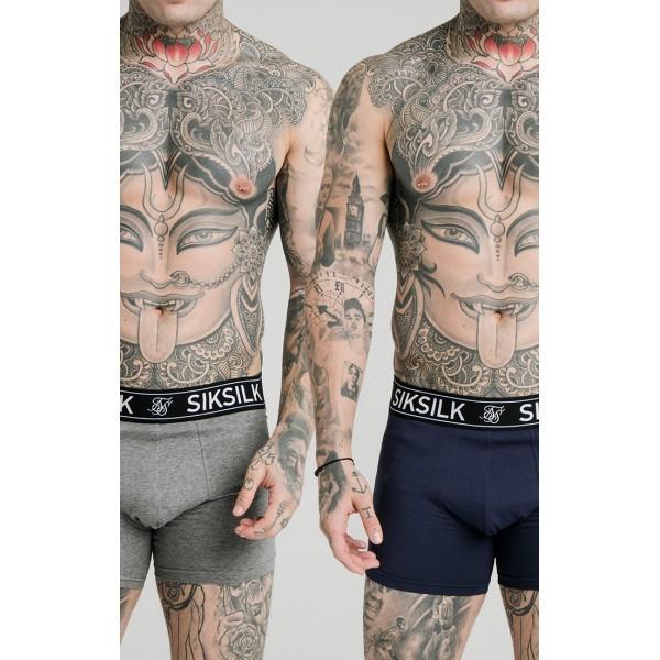 Férfi boxer SIK SILK 2-pack navy/grey