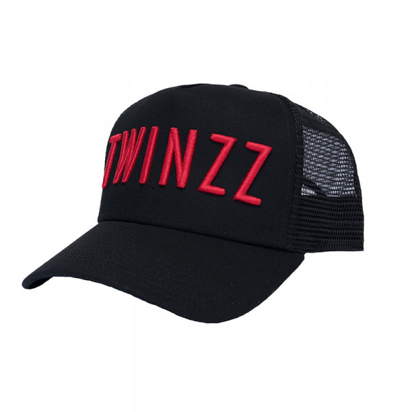 Sapka TWINZZ 3D Mesh Trucker black/red