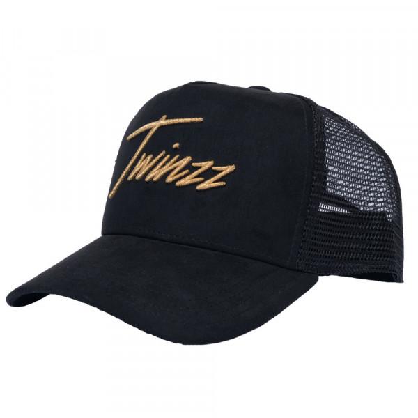 Sapka TWINZZ Lightening Suede Trucker black/gold