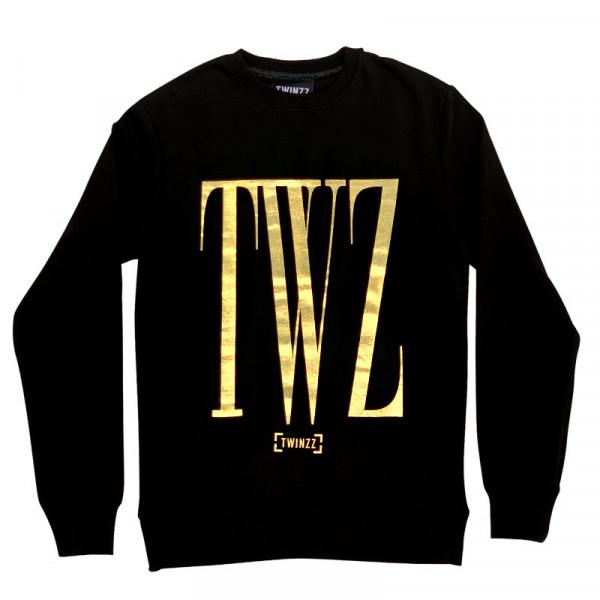 Felső TWINZZ Rossi Sweatshirt black/gold