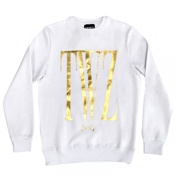 Felső TWINZZ Rossi Sweatshirt white/gold