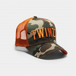 Sapka TWINZZ Tri-color trucker camo/orange