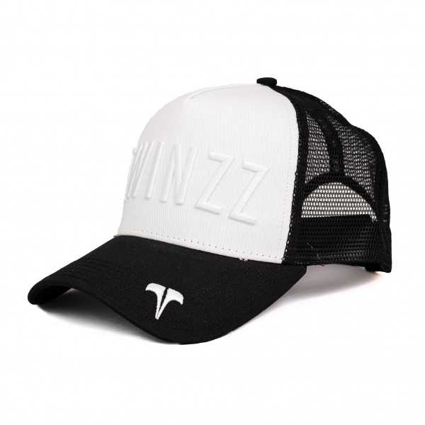 Sapka TWINZZ Tri-color trucker YingYang black/white